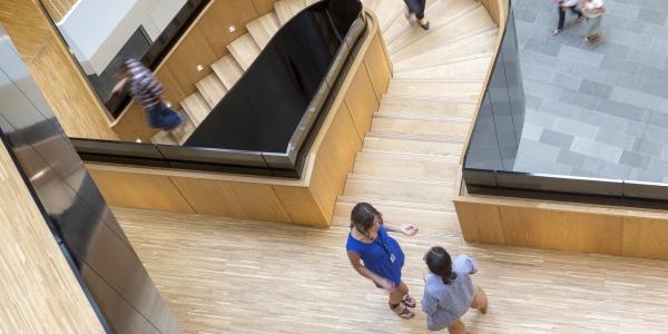 Trappen og trapperummet er et uformelt mødested,