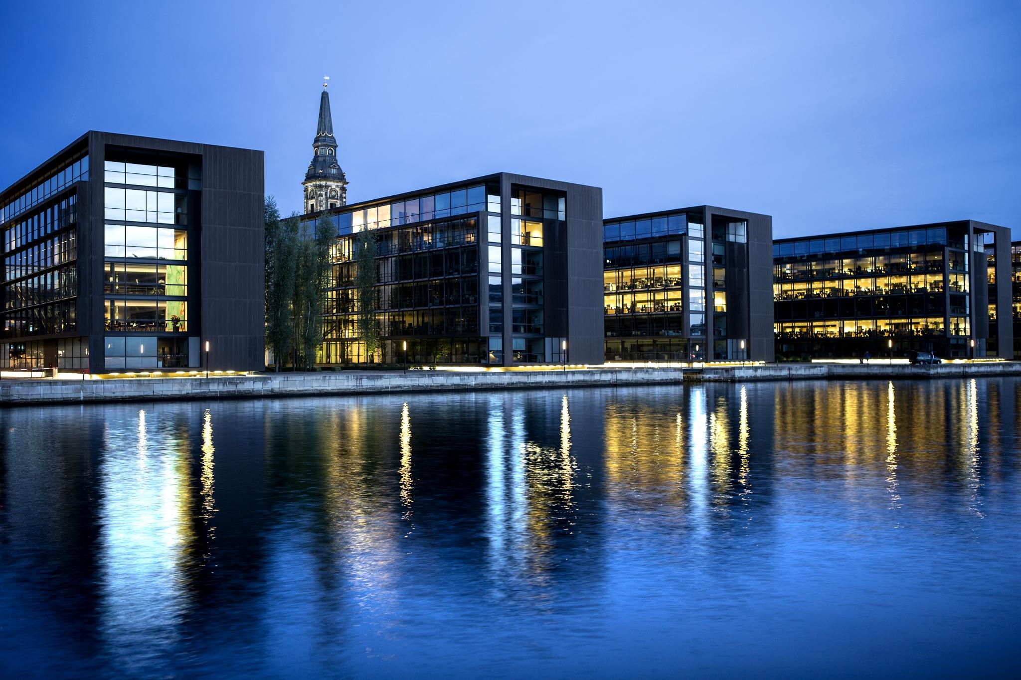 Kontor Christianshavn København aften