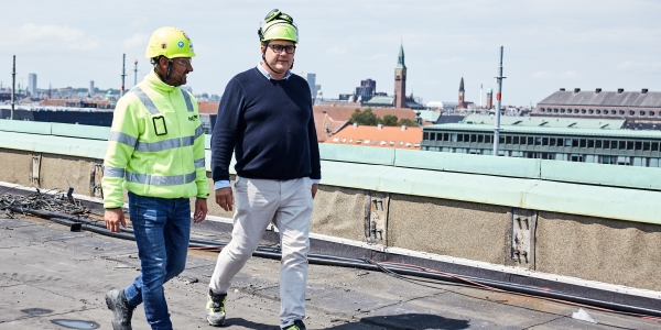 Taget af Strandgade 7 i København