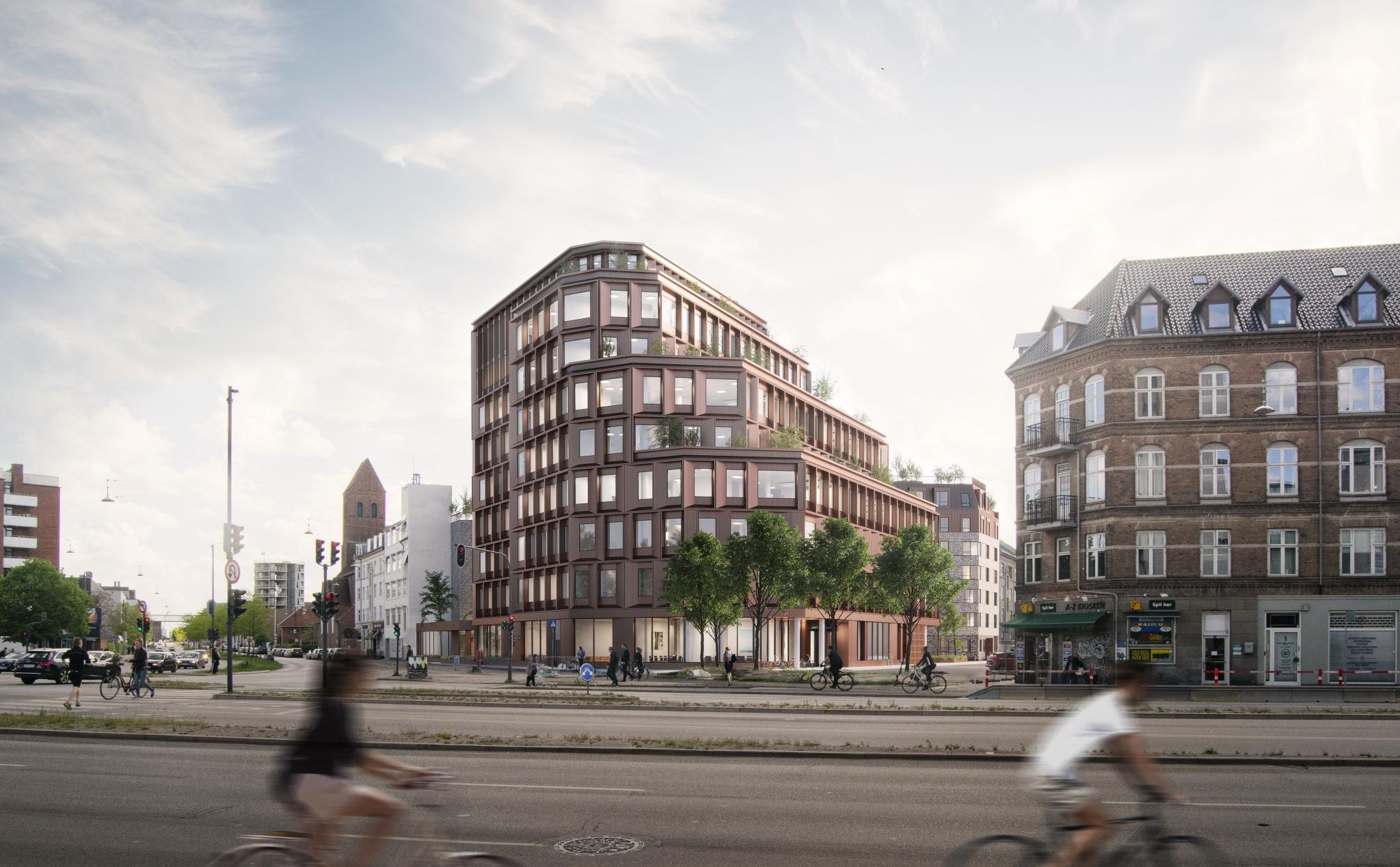 Visualiserng af ny ejendom ved Vibenshus Runddel