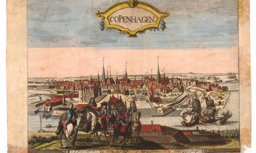 Gammel tegning af Christianshavn