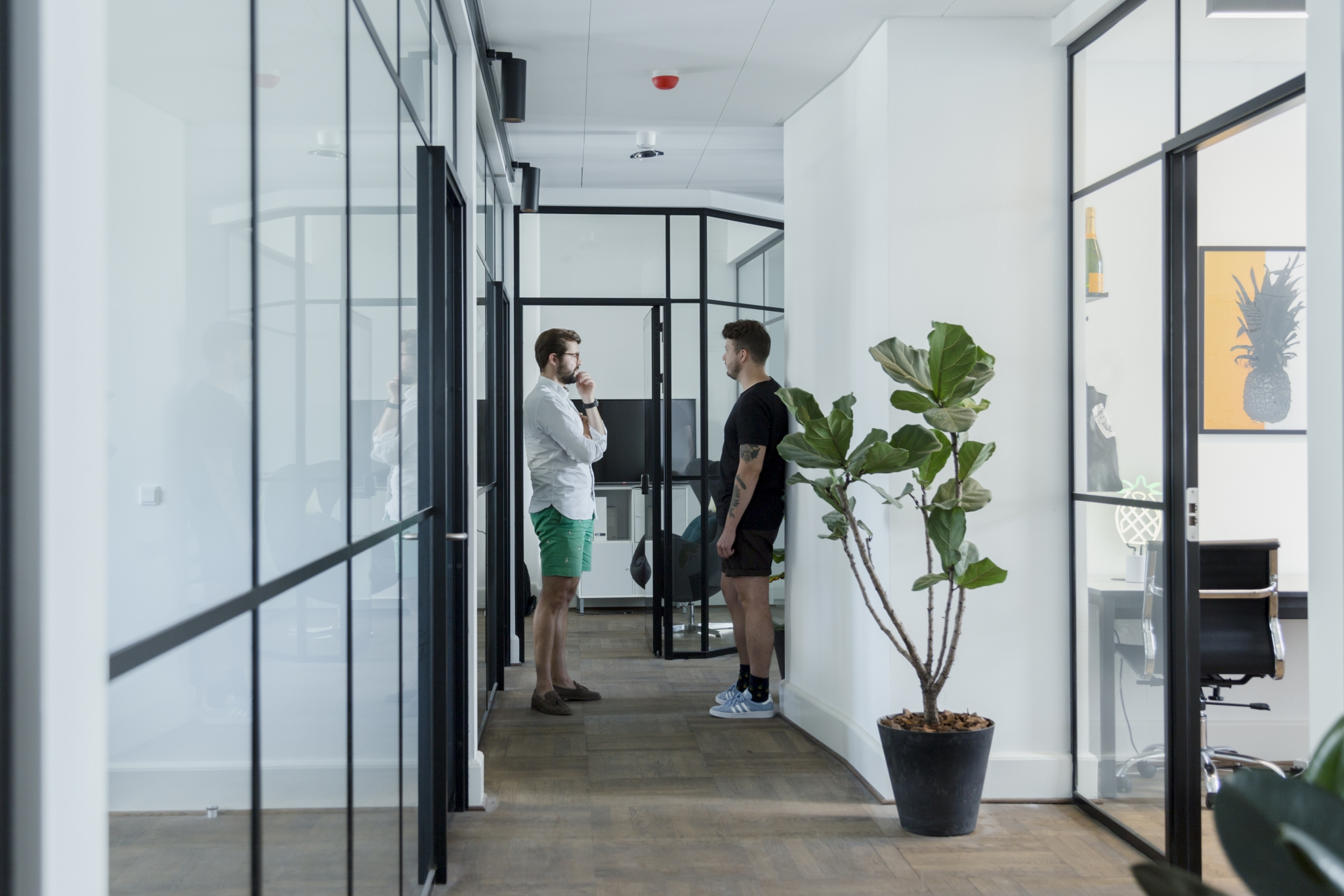 Moderne indretning i en smuk ejendom
