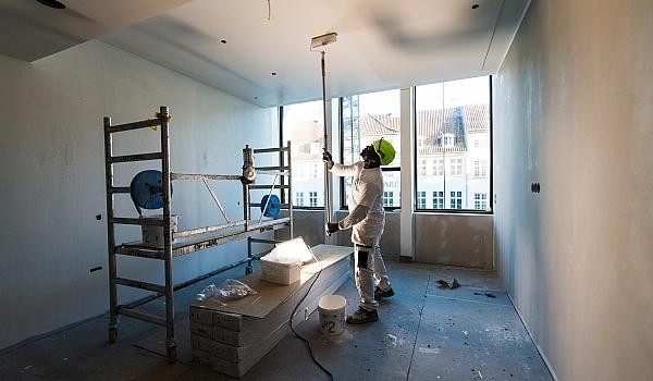 Malerarbejde på Strandgade 7 i København